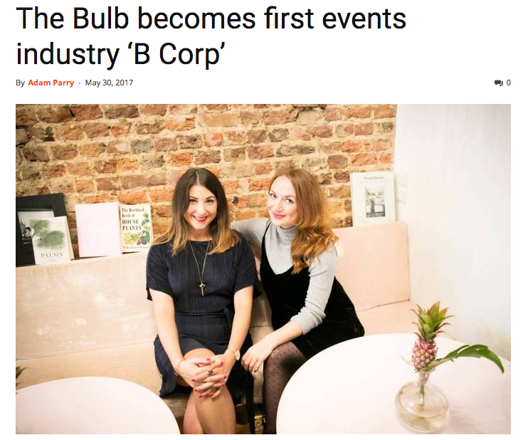 The Bulb | B Corp announcement