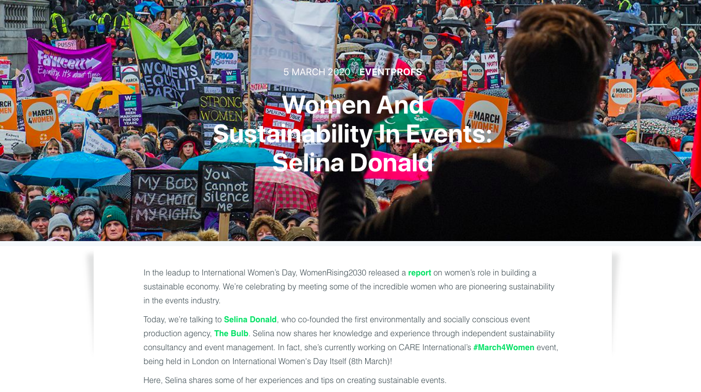 The Bulb | Women and Sustainability in Events