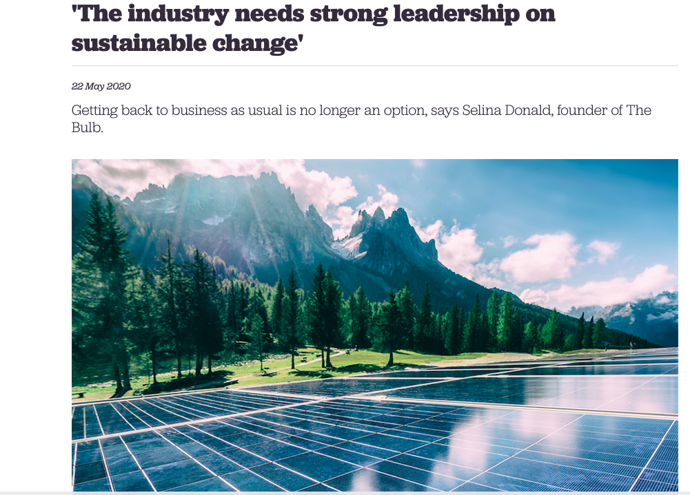 The Bulb | The Industry Needs Strong Leadership on Sustainable Change